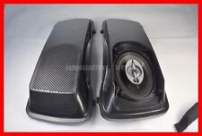 HARLEY TOURING  6x9 SADDLEBAG CVO STYLE SPEAKER LIDS ABS BAGGER AUDIO