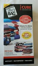 ORIGINAL SPACE BAG Cube Combo 3 Pack - Jumbo, X-Large & Large Vacuum Seal Bags