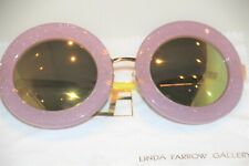 LINDA FARROW MARKUS LUPFER Round Lilac Lime Mirror ML6 Sunglasses JAPAN