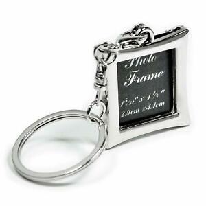 Metal photo frame key chain key ring rhombus shape
