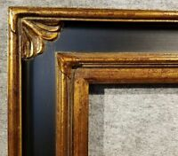 """4.75"""" WIDE Gold and Black Ornate Oil Painting Wood Picture Frame 278BPG 20X24"""