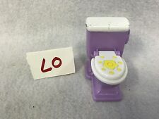 DORA THE EXPLORER / LOVING FAMILY Dollhouse Replacement Toilet White Purple