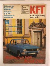 Kraftfahrzeugtechnik KFT 07/1976 Moskwitsch Mossi 1500 2140 DDR Zeitung