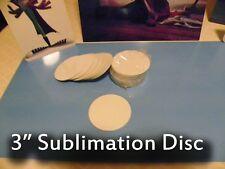 "Gloss White Aluminum Dye Sublimation 3"" Round Blank Discs - Lot of 25PCs"