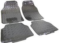 Auto Gummi Fußmatten universal Alu Riffelblech Optik chrom Carbon