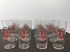 "BECKS Beer Glasses Germany Coat of Arms Lot Of 12 Bar Glassware 5.25""H 3""D"