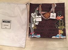 SALE! MOSCHINO Couture AW15 X Jeremy Scott Bugs Bunny Daffy Duck Shopper Bag LMT