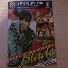 SHEFFIELD UNITED V WIGAN ATHLETIC 1991/92 LEAGUE CUP PROGRAMME