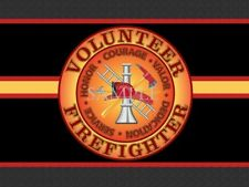 Volunteer Firefighter Circle Of Pride Home Garage Doormat Floor Door Mat Rug