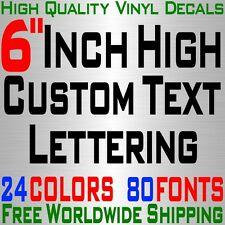 """Personalized 6"""" Custom Text Name Vinyl Decal Sticker Car Wall 16x Lettering max"""