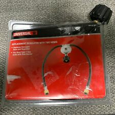 PROPANE TANK Universal Replacement Regulator with Two Hoses