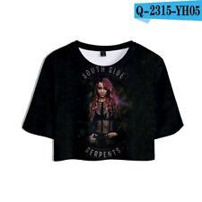 Riverdale South Side Jones 3D Crop Top Kurzarm Shirt Damen Mädchen