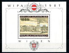 Autriche 1981 Bloc 5 menthe Exposition philatélique WIPA BR148