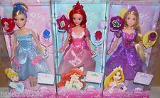 Disney Princess 3 Party Dolls Princess Rapunzel Cinderella Ariel W/ Ring balloon