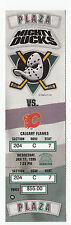 DUCKS VS FLAMES 1996 FULL TICKET STUB MINT 1/17/96 THEO FLEURY GOAL