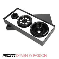 RCM Lightweight AUX Pulley Set Subaru Impreza GC8 1992 - 2000 Cars With Aircon