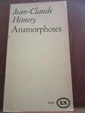 Jean-Claude Hémery: Anamorphoses/ Denoël