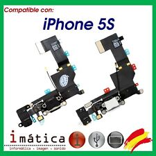 CONECTOR CARGA iPHONE 5S COLOR NEGRO BLANCO FLEX JACK AURICULAR MICROFONO CABLE