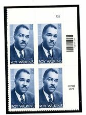US  3501  Roy Wilkins 34c -Plate Block of 4 - MNH - 2001 - P33  UR