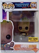 GROOT w/ CANDY BOWL Guardians of the Galaxy Pop Vinyl Figure #264 Hot Topic 2017