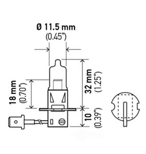 Headlight Bulb-Optilux Fog Light Bulb Hella H71071312