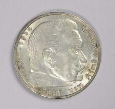 1938-A GERMANY THIRD REICH 5 REICHS MARK! SILVER! - CLASSIC! INV#395