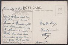 Family History Postcard - Long - Woodlands, Otley, Yorkshire  RF816