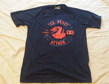 Under Armour Men T-Shirt Navy Blue Short sleeve Loose See React Attack