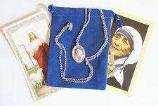 Mother Teresa Saint Medal with 24 Inch Necklace