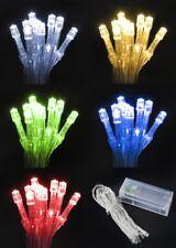 Lichterkette LED 10 Weihnachten Batterie Beleuchtung Innen Lichter Kette #1675