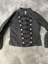 Next Girls Grey Military Jacket Age 8 Years