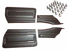 Front Door & Rear Quarter Door Trim Panels 1971 GTO LeMans W/ Clips Black Felts