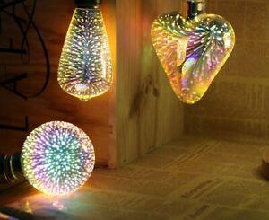 Christmas 3D Decoration LED Firework Effect Bulb Décor Light Holiday Christmas