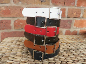 UTILITY STRAP - REAL LEATHER - VARIOUS WIDTHS - LENGTHS - COLOURS & BUCKLES