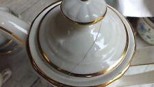 service à café : 12 tasses, soucoupes et cafetière (bouchon de la cafetière reco