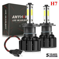 4 Sides CREE H7 2800W 560000LM LED Headlight Kit High or Lo Light Bulb 6000K HID