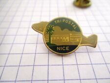 PINS RARE VINTAGE TRI POSTAL NICE CENTRE DISTRIBUTION COURRIER wxc Q*2