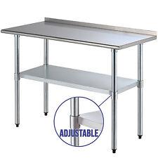 """24"""" x 48"""" Stainless Steel Work Prep Table Kitchen Restaurant w/Backsplash"""
