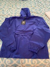 Augusta Sportswear Packable Half-Zip Pullover Jacket Lg Hooded Rain Coat