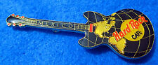 MEXICO CITY *LARGE* BLUE WORLD MAP GLOBE THE AMERICAS GUITAR Hard Rock Cafe PIN