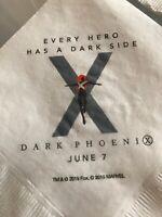 X-Men Dark Phoenix Movie Promo Napkins Birthday Party Decorations Rare Limited