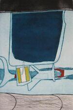 British JOHN BRUNSDON Mid-Century Modern Abstract Expressionism Etching #2