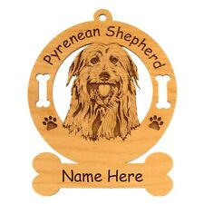 Pyrenean Shepherd Head Dog Ornament Personalized With Your Dogs Name 3797