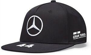 Mercedes Benz AMG Petronas F1 2021 Lewis Hamilton Flatbrim Hat Black/White