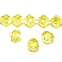 SCB4115f Citrine Yellow 5mm Faceted Xilion Bicone Swarovski Crystal Beads 24pc