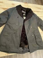 New BARBOUR X Engineered Garments Mackinaw Wax Insulated Fur Jacket Coat MSRP 1K