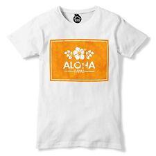 Aloha Orange Box Hawaii T Shirt Tropical Flowers Sea Top Geek Surfing Rad 368