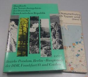 Handbuch Naturschutzgebiete DDR Band 2 Bezirk Potsdam Berlin Frankfurt/O.+Karte