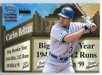 2000 Crown Royale Feature Attractions CARLOS BELTRAN Exclusive Showings Rare /20