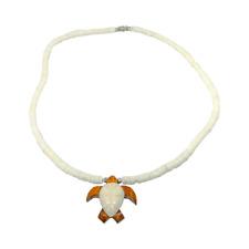 Hawaiian Jewelry Koa Wood and Buffalo Bone Honu Sea Turtle Puka Shell Necklace